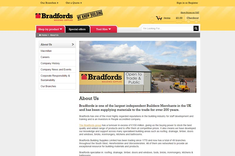 Bradfords Building Supplies South West England