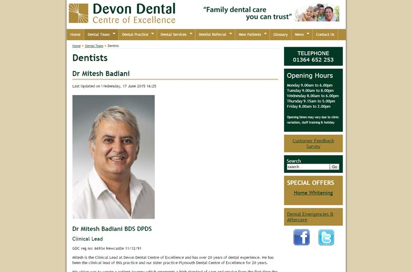 Devon Dental Centre of Excellence About