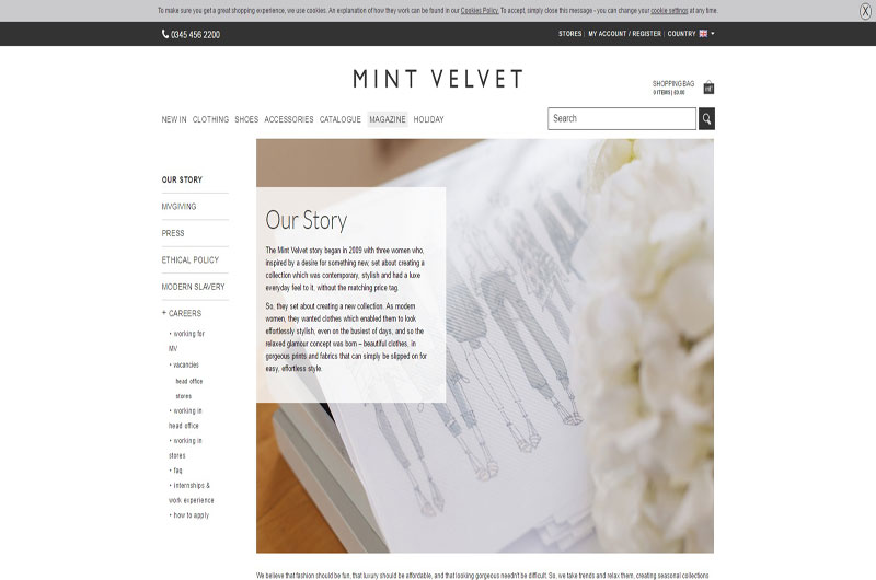 Mint Velvet women's clothing