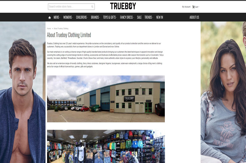 Trueboy Clothing Dorset